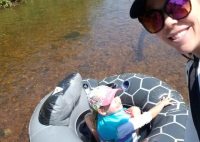tubing on the Yampa River
